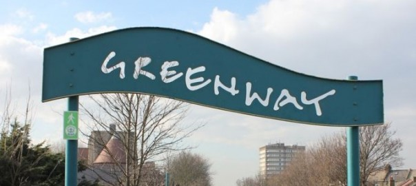 Greenway cycle path entrance