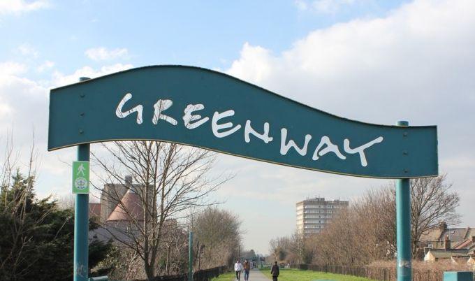 Greenway cycle path entrance