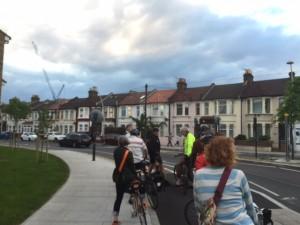 Cycleway Ruckholt Road