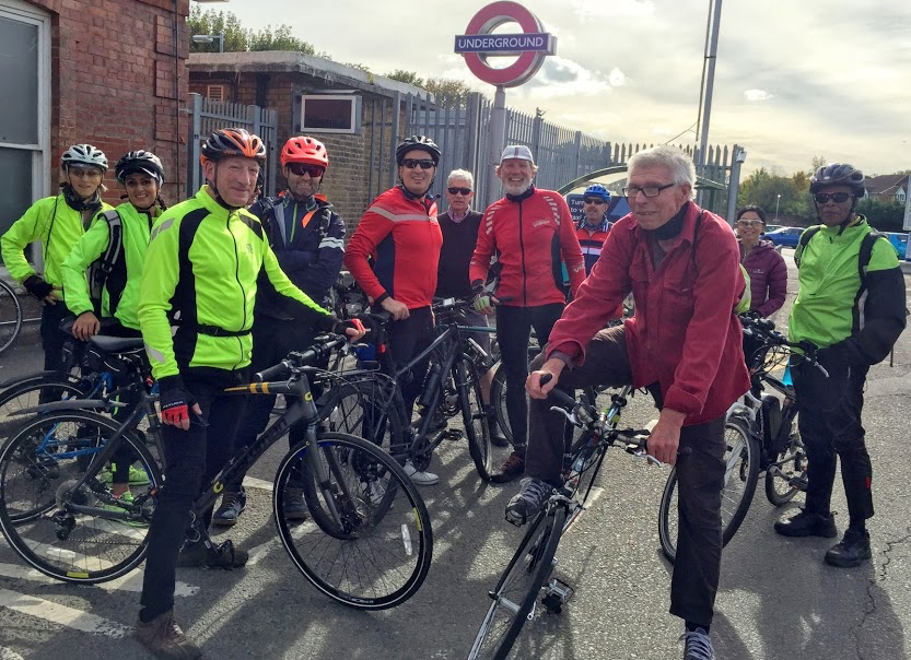 group of cyclists ready for a ride